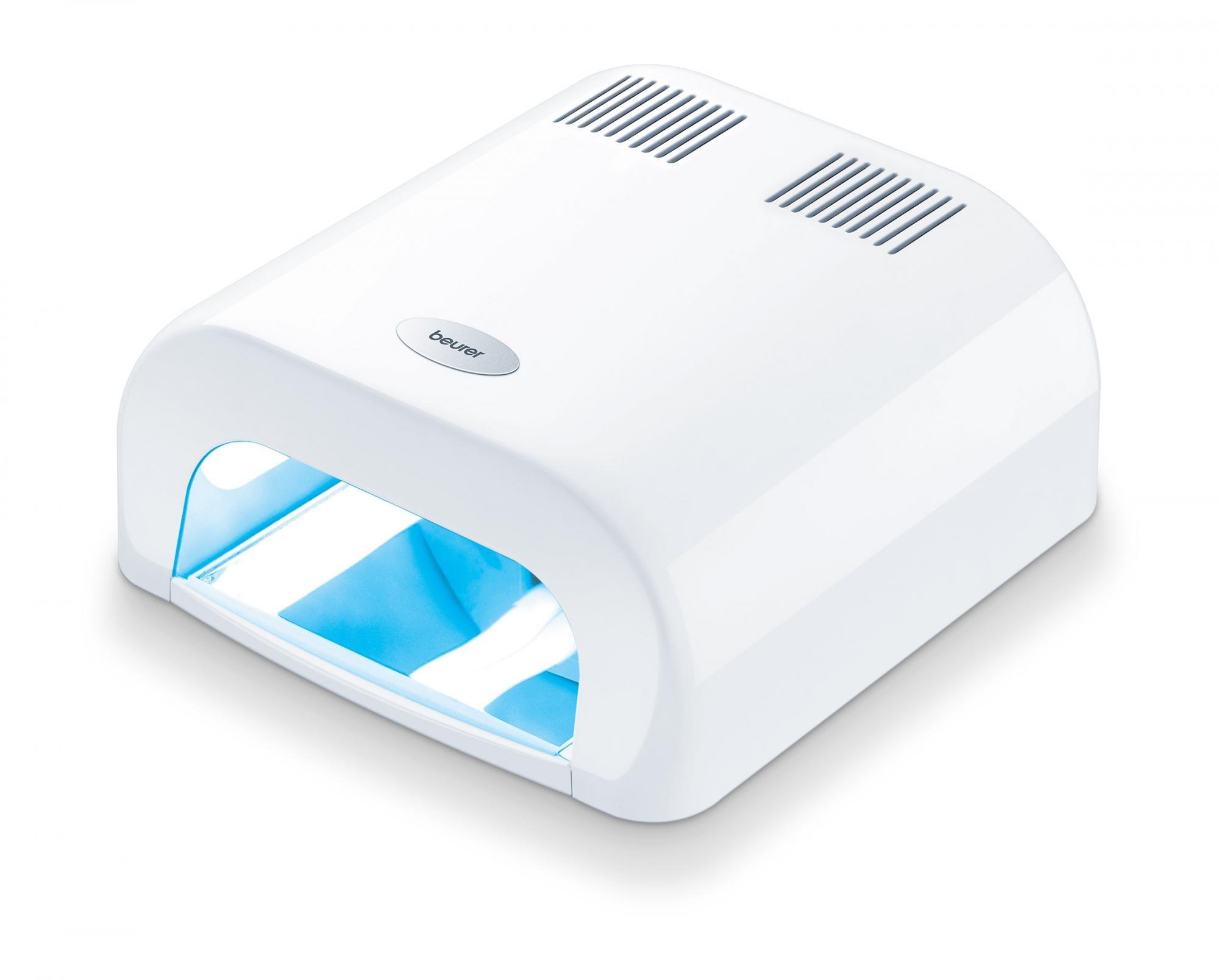 starší model MP 38 má tvar tunelu. Je bílý, uvnitř má zrcadla a svítí světla. Nahoře jsou ventilátory.